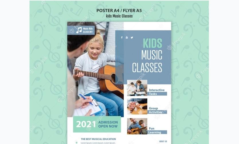 Free Kids Music Classes Flyer