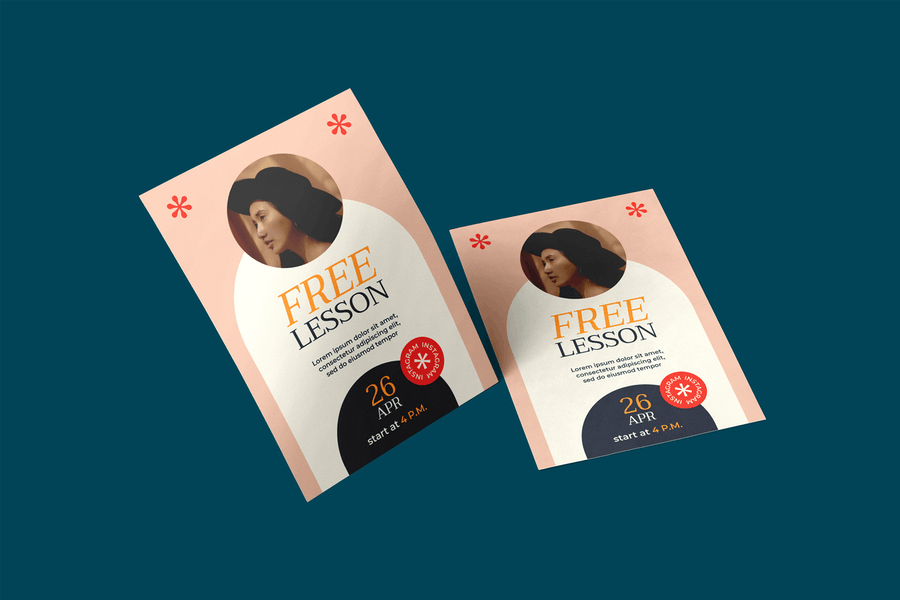 Free Lessons Flyer Template