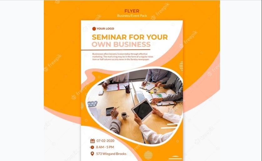 Free Minimal Seminar Flyer Template