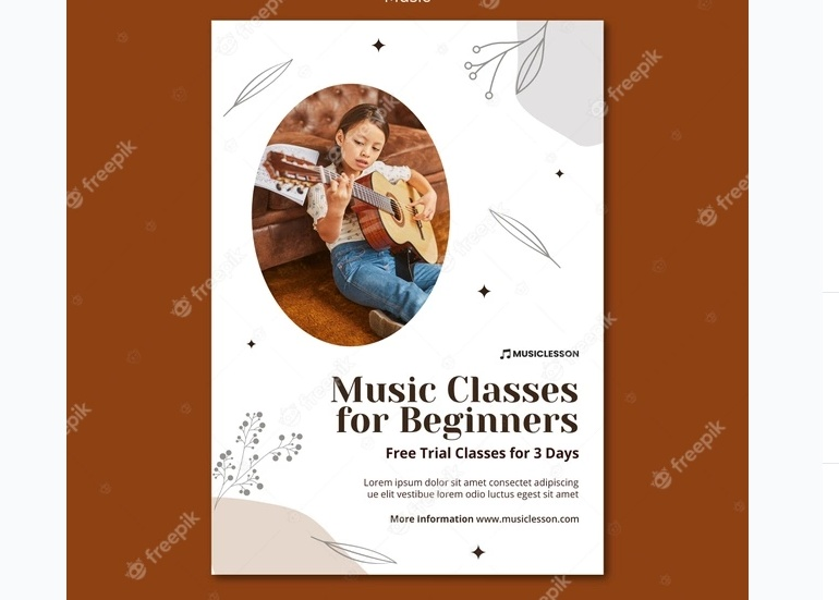 Free Music Classes Flyer