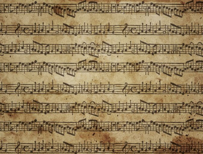 Free Music Paper Texture