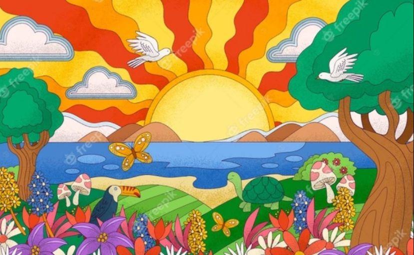 Free Psychedelic Landscape background