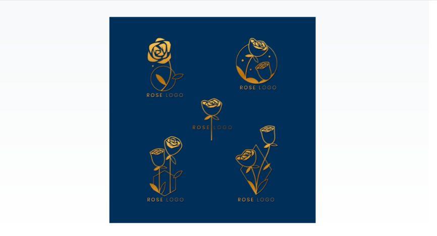 Free Rose Logo Design