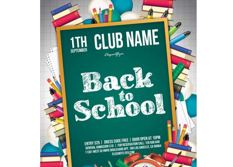 Free School Club Flyer Template