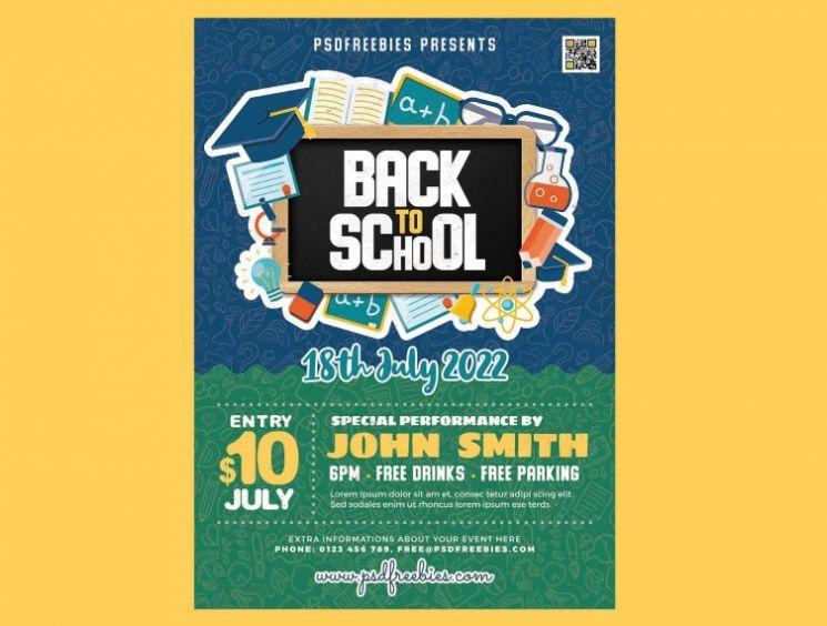 Free School Opening Sale Flyer