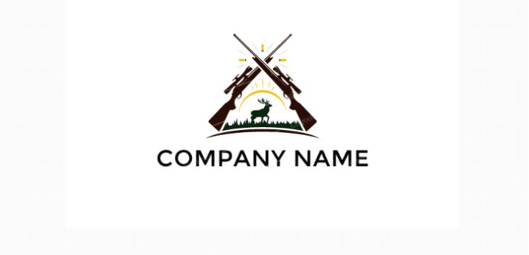 Free Simple Hunting Logo