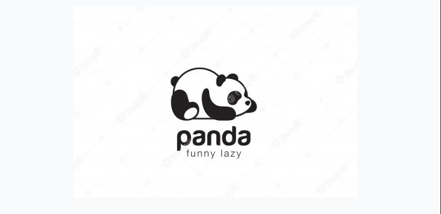 Free Sleeping Panda Logo
