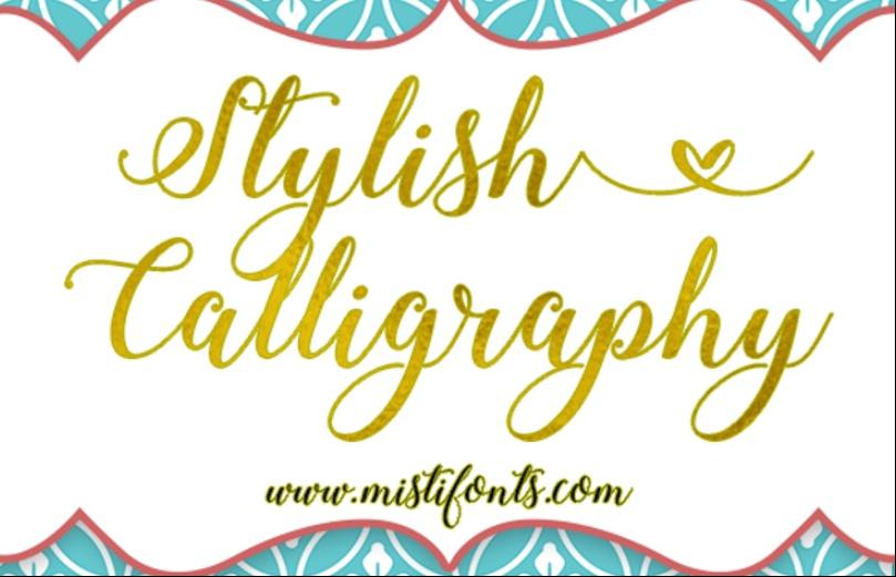 Free Stylish Calligraphy Fonts