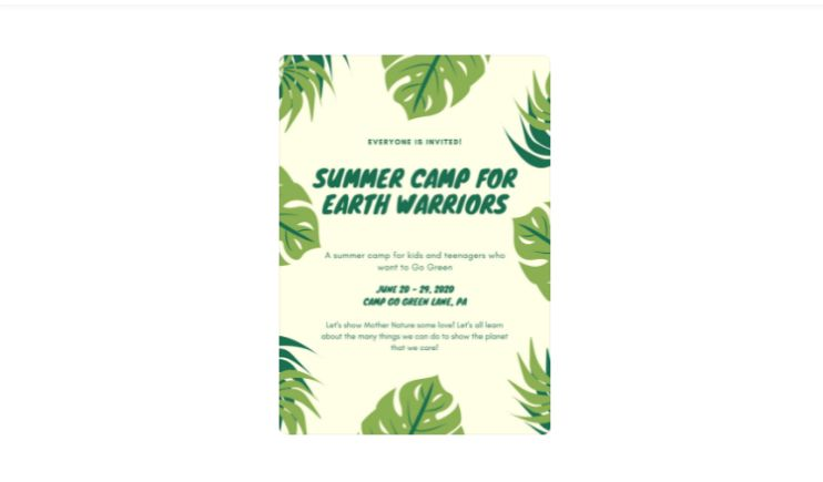Free Summer Camp Poster