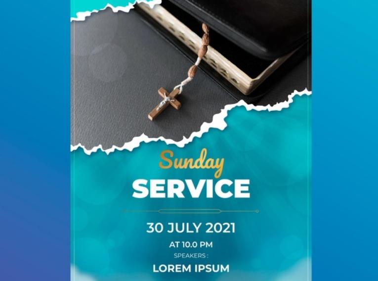 Free Sunday Service Flyer