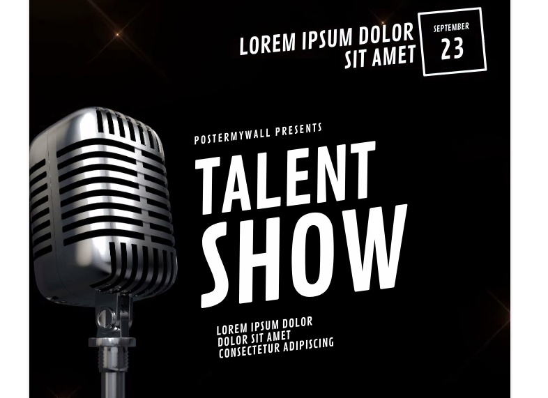 Free Talent Show Promotional Flyer