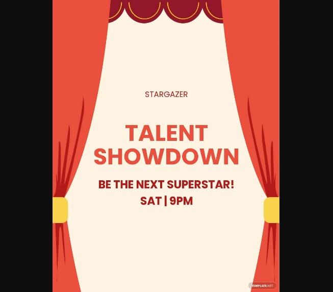 Free Talent Showdown Flyer