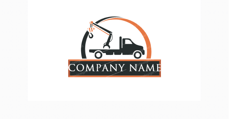 Free Towing Truck Company Logo