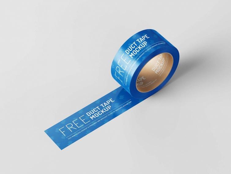 FreeDuct Tape Mockup PSD