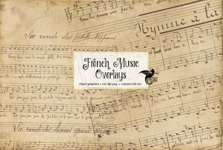 French Music Sheets Background