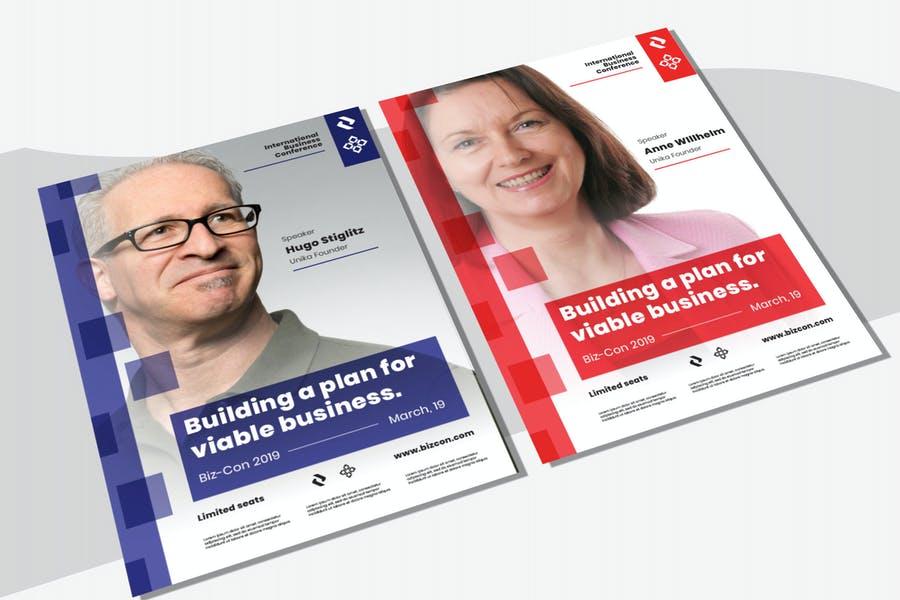 Fully Editable Business Seminar Poster