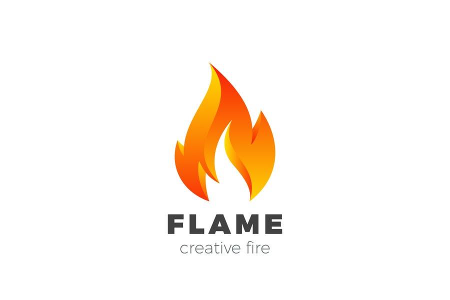Fully Editable Flame Logo