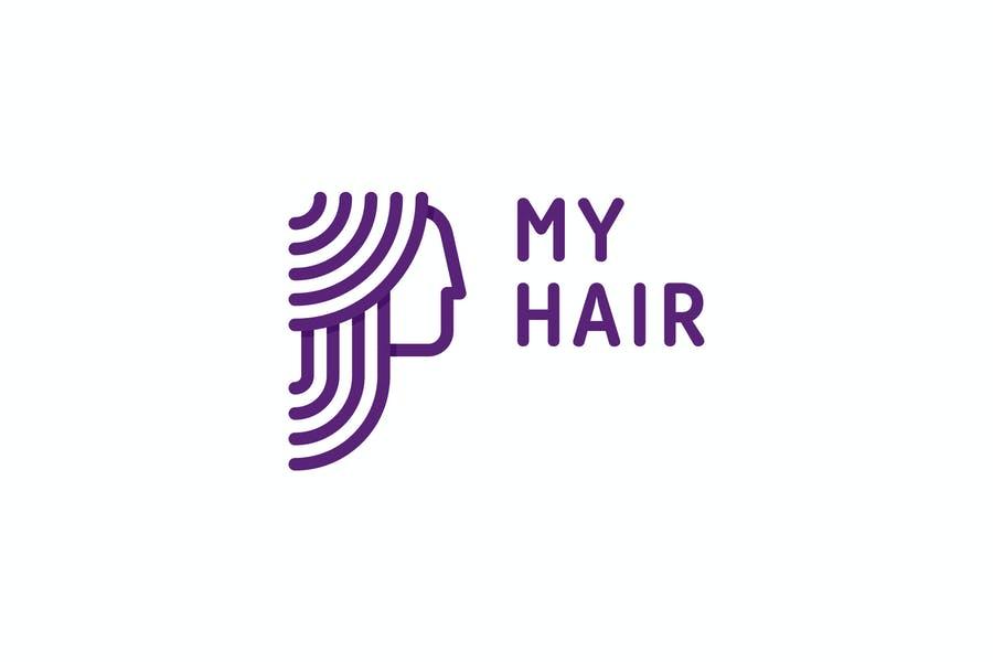 Fully Editable Hair Logo Design