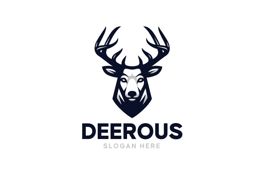 Fully Editable Moose Logo Design