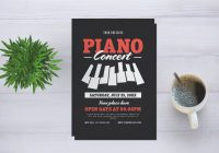 Piano flyer template