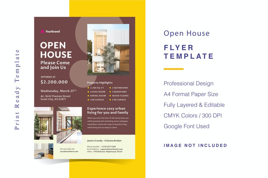 Fully Editable Real Estate Flyer
