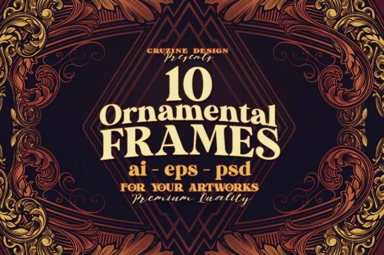 Fully Editable Victorian Frames