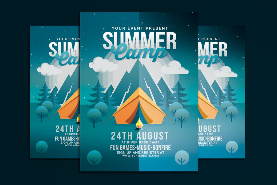 Fully Layered Summer Camp Flyer
