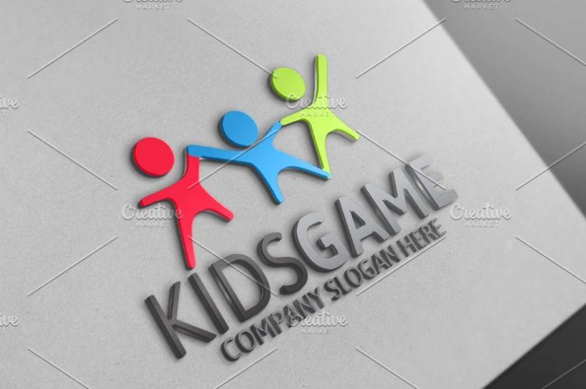 Funny Kids Logo Design