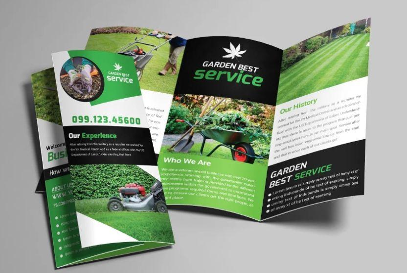 Garden Service Tri Fold Brochure Template