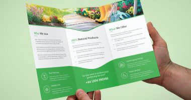 gardening brochure templates