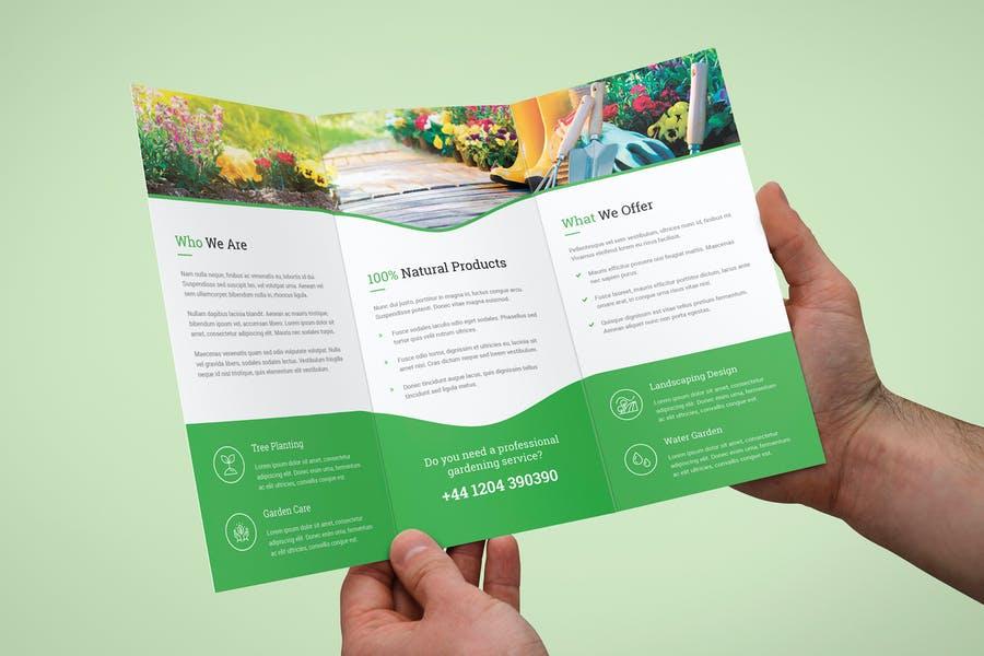 Garden Tri Fold Brochure Design
