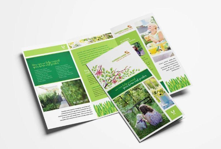 Gardening Services Brochure Template