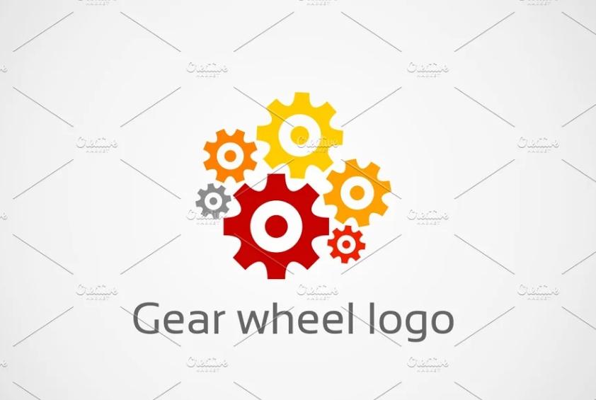 Gear Wheel Logo Set