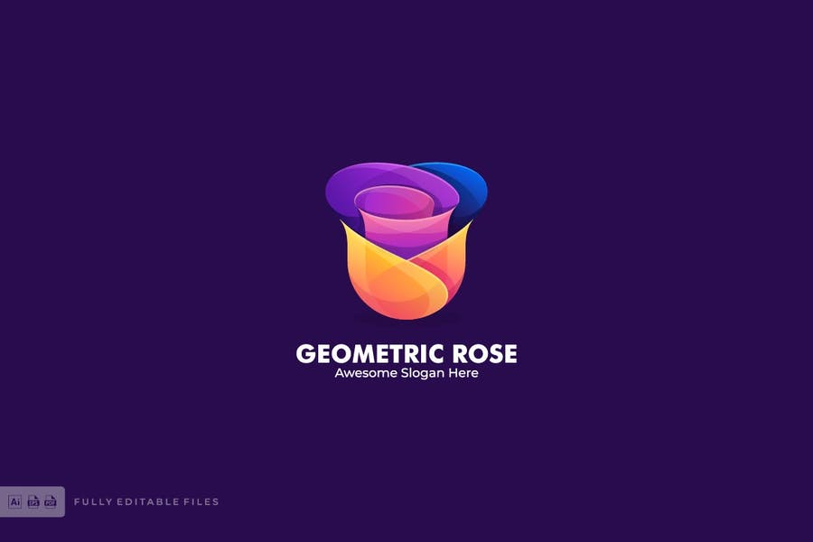 Geometric Rose Logotype