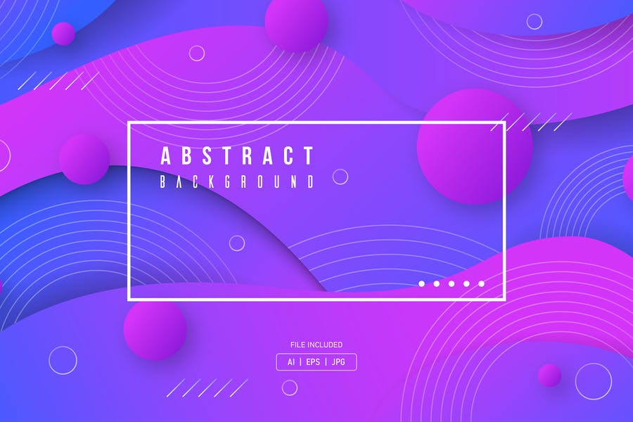 Geometric Wave Style Backgrounds