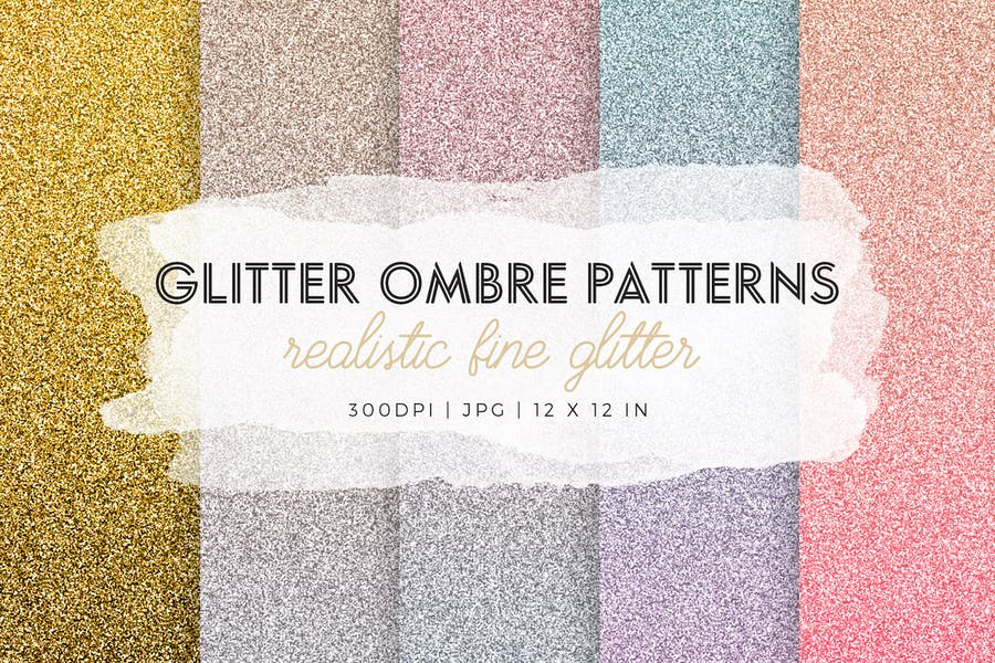 Glitter Ombre Pattern Designs