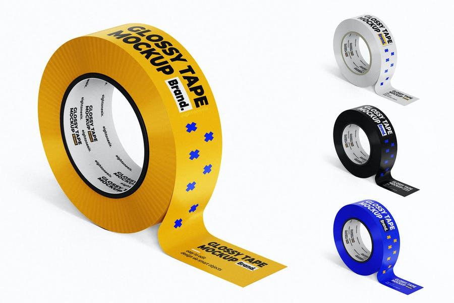 Glossy Tape Mockup PSD