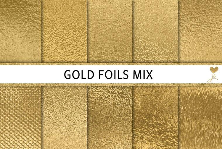 Gold Foil Mix Backgrounds
