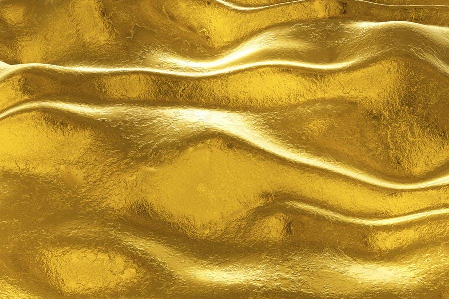 Gold Metal Wave Bacgrounds