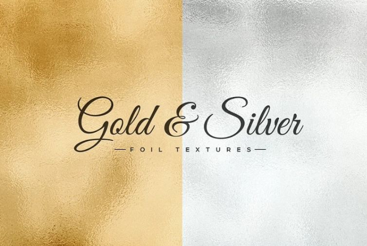 Gold and Silver Foil Textures