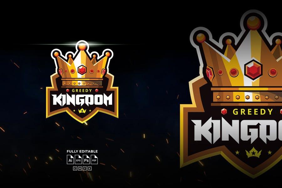 Golden Crown Mascot Logos