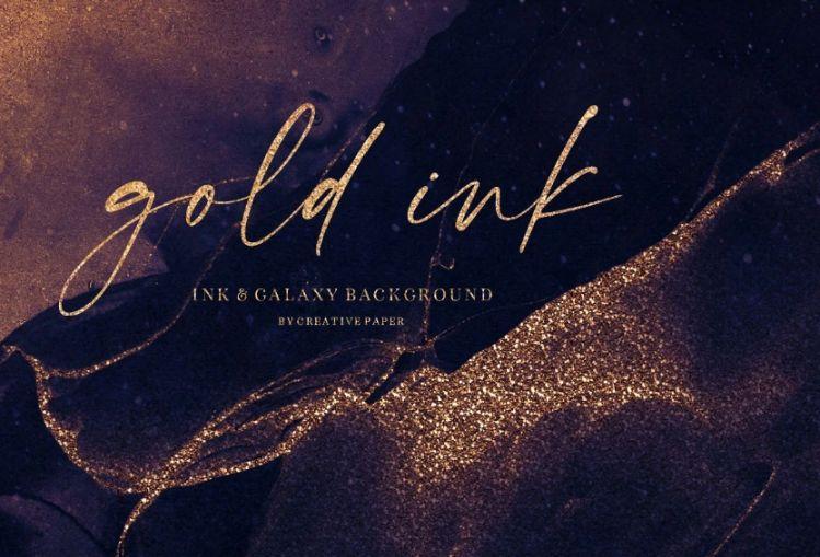 Golden Ink Textures