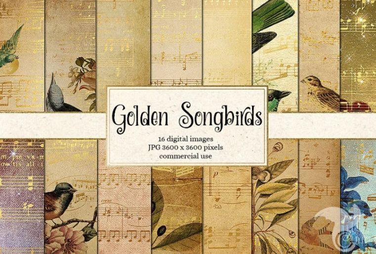 Golden Song Paper Textures