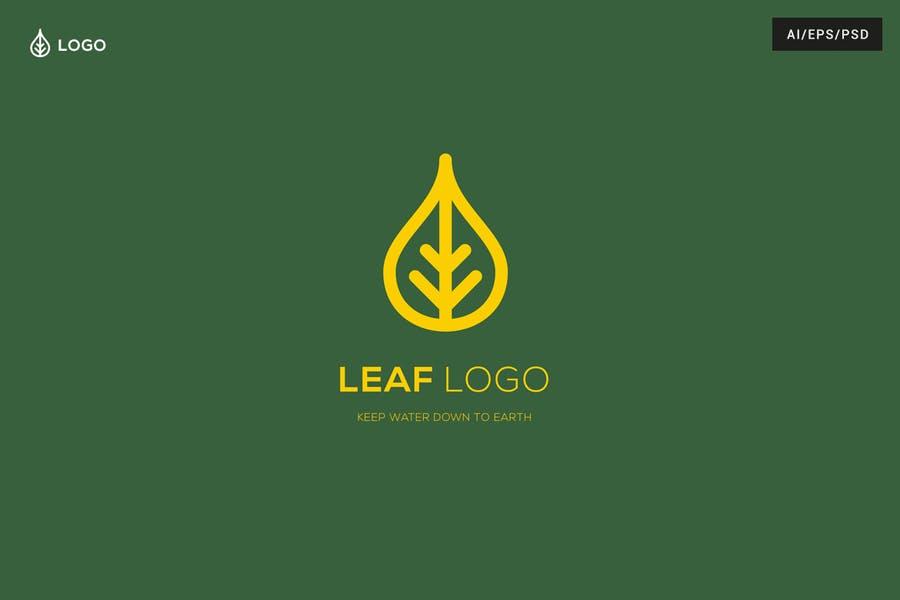 Golden Style Leaf Logo