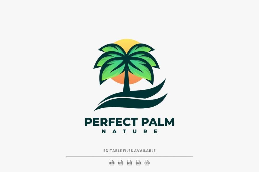 Gradient Style Palm Logo