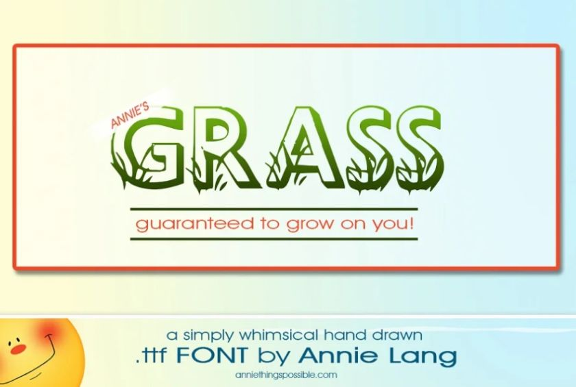 Grass Style Novely Display Fonts