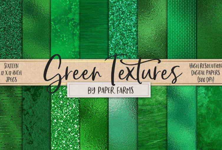 Green Digital Papers Textures