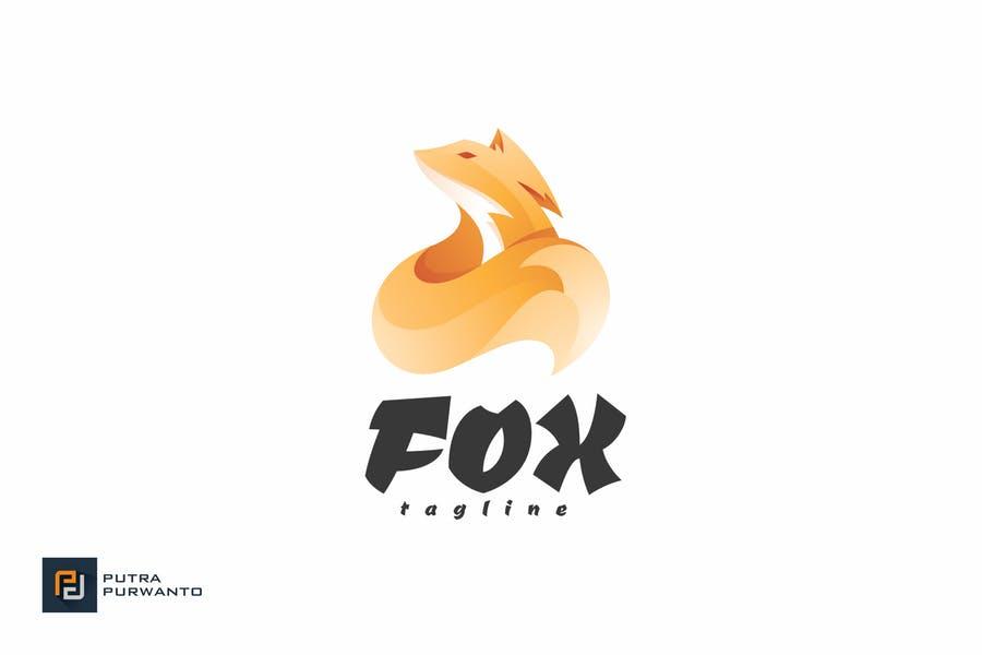 Greyscale Fox Identity Design
