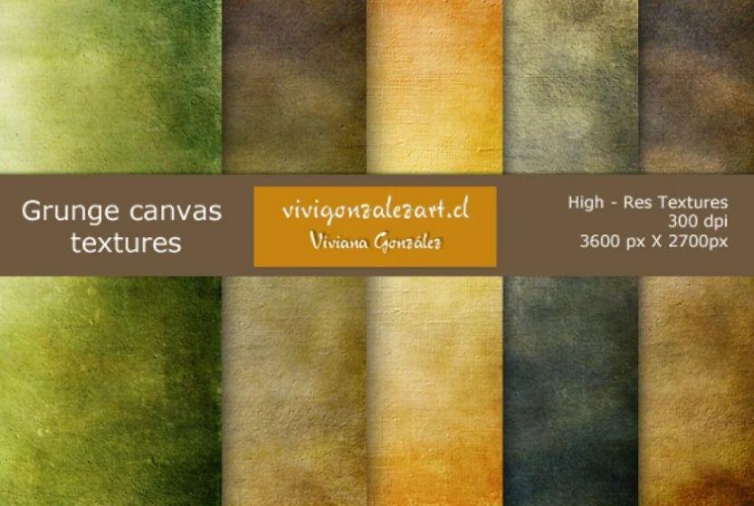 Grunge Canvas Texture Background