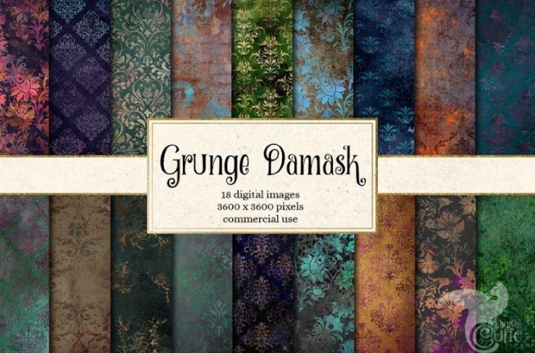 Grunge Floral Backgrounds